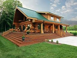 Small Cabin Home Amazing Log Cabin With Green Roof Cabins Cottages And