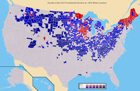 Election Map Results by Map Results Of The 2012 Pres Election In U003e90 Non Hispanic White