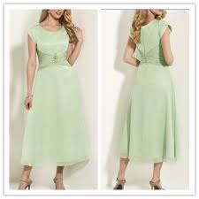 sage cheap modest temple bridesmaid dresses gown with cap sleeves