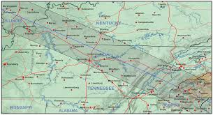 Tennessee On A Map by Kentucky And Tennessee Eclipsophile