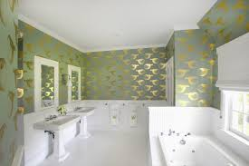 is wallpaper in the bathroom the next big design trend before and after easy bathroom makeover design idea with wallpaper