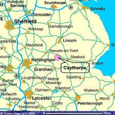 map of east uk caythorpe and frieston parish council