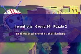 codycross inventions small french cake baked in a shell like