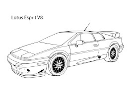 super car lotus esprit v8 coloring page cool car printable free