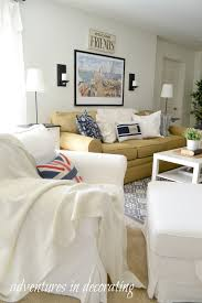 How To Decorate A Long Wall In Living Room by Adventures In Decorating Come On Down To The Basement