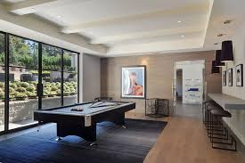 Game Room Rug Contemporary Game Room With Carpet U0026 High Ceiling In Atherton Ca