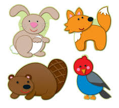 woodland animals cut outs 36 count cd 120108