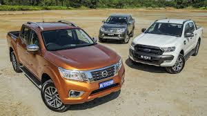 driven 2015 5 nissan navara vs ford ranger vs mitsubishi triton