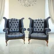 leather chesterfield wing chair at designer sofas 4u
