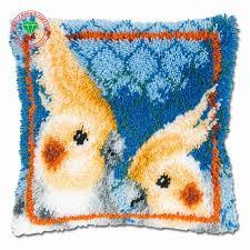 parrot pillow cushion decor carpet latch hook rug kits pillowcase