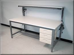 using stainless steel work bench