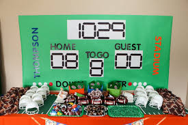 football party ideas tate s amazing tailgate football birthday party