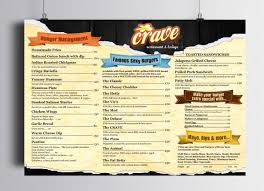 playful colorful menu design for the balcony café by esolz