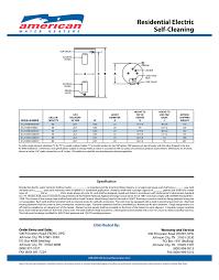 american water heater 50 gallon short standard electric water