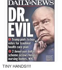 Evil Memes - daily news new york s hometown dr evil o trump plots to buy votes