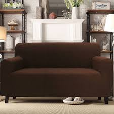 Leather Slipcover Sofa Mainstays 1 Piece Stretch Fabric Sofa Slipcover Walmart Com