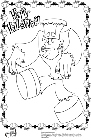 halloween frankenstein coloring pages getcoloringpages