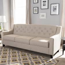 baxton studio arcadia modern and contemporary light beige fabric