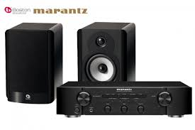 boston acoustics a 25 bookshelf speakers and marantz pm5004