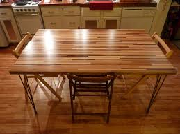 Diy Solid Wood Table Top by Arts And Crafts Breakfast Room Design With Diy Metal Legs Butcher
