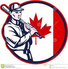 canadian baseball batter canada flag circle stock vector image