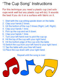 printable instructions classroom instructions for the cup song w a video tutorial as well as