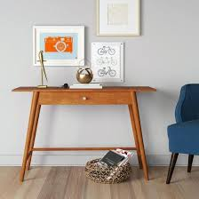 west elm entry table mid century modern consoles bcasa