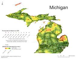Michigan Map By County by National Geodetic Survey 2014 Gps On Bench Marks Campaign