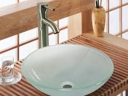 bathroom vanity elegant white porcelain vessel sink on