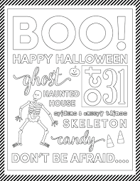coloring pages happy halloween coloring pictures printable happy