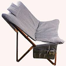 Butterfly Folding Chair Unho Wood Canvas Folding Outdoor Chair Mobile Terrace Amazon Co