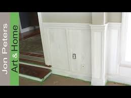 Diy Chair Rail Wainscoting How To Install Chair Rail With Flat Panel Wainscoting Youtube