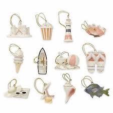 lenox summer miniature tree ornaments set of 12 sand castle boat