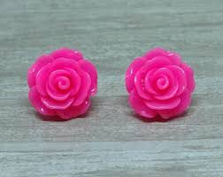 plastic stud earrings plastic earrings etsy