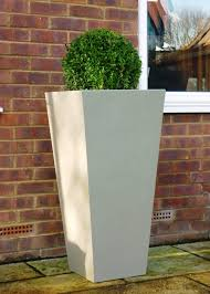 white outdoor planters home design styles