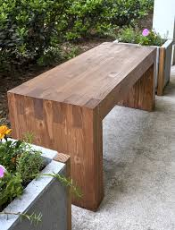 Garden Bench With Planters Williams Sonoma Inspired Diy Outdoor Bench Diycandy Com