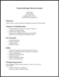 Examples Of Retail Resumes by Property Manager Resume Example Sample Property Manager Resumes