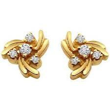 gold ear rings images surat diamond 18 kt gold diamond earrings gold earrings