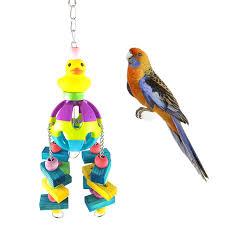 multicolor birds cage toys pets birds toys wooden bird