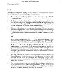 termination agreement letter template amitdhull co
