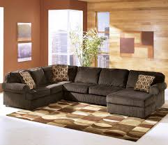 Right Furniture Ashley Furniture Vista Chocolate 3 Piece Sectional With Right