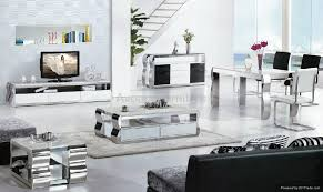 marble and stainless steel dining table modern stainless steel dining table design marble top 015