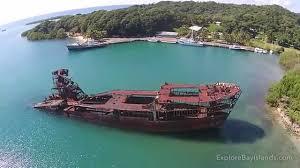 Map Of Roatan Honduras Roatan Dixon Cove Wreck Youtube