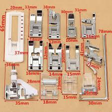 14 pcs snap presser foot set for viking husqvarna sewing machines