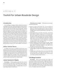 aashto clear zone table appendix c toolkit for urban roadside design safe and aesthetic