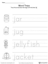 trace words that begin with letter sound j myteachingstation com