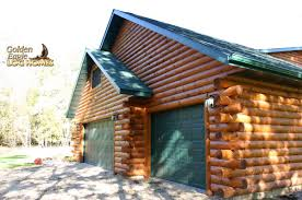 Garage With Living Space Golden Eagle Log Homes Log Home Cabin Pictures Photos Custom