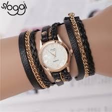 leather wrap bracelet watches images Sloggi brand vintage leather strap ladies watch bracelet wrap jpg