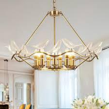 Bird Pendant Light European Copper Pendant Lights Fixture Led Light Glass Bird