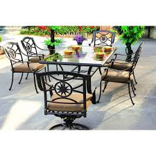 Patio Dining Sets - darlee ten star 7 piece cast aluminum patio dining set with glass
